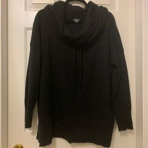Eddie Bauer cowl hooded sweater, black/gray